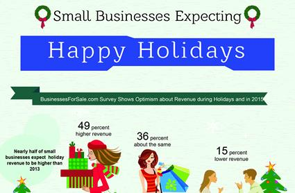 Small business expecting happy holidays