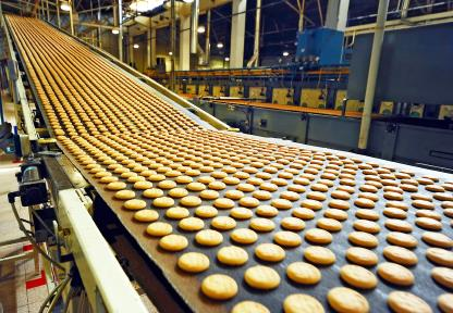Food manufacturing cookies