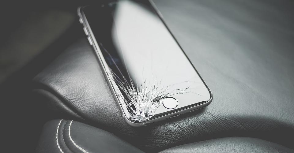 Phone cracked screen