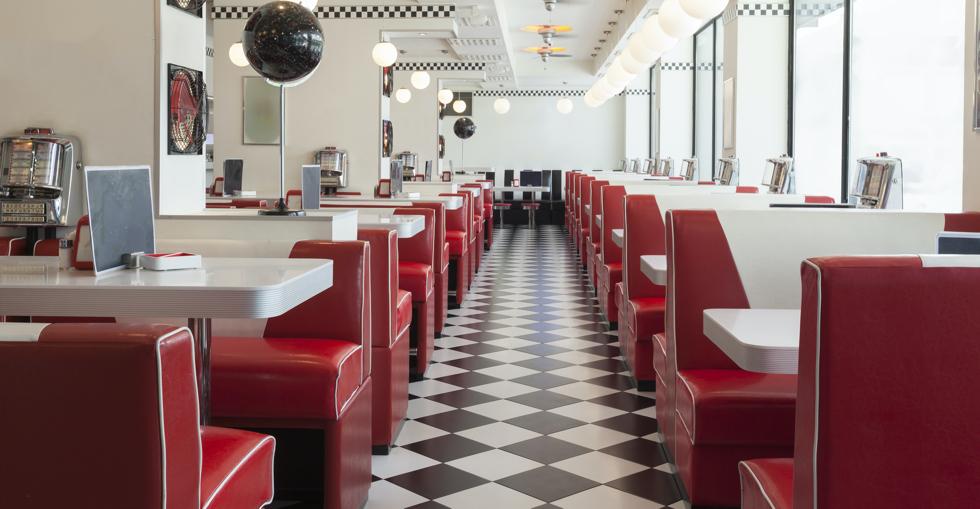 Diner red interior
